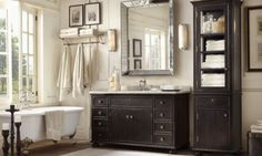 With matching vanity on other side