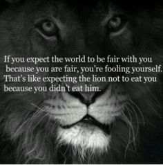 The world is not fair actually....