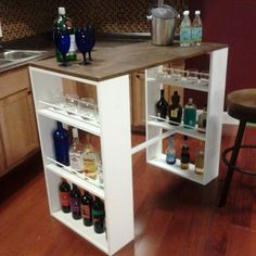 Make a Cafe Table For Yourself - 20 Decorative And Practical DIY Spring Projects great for a small apartment.