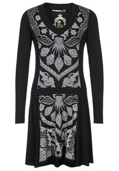 Desigual - Jersey dress - black Sapatos Formais 851203ede5