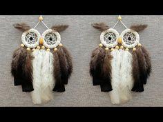 DIY como hacer un ATRAPASUEÑOS de BÚHO | DIY Owl Dreamcatcher - YouTube Dream Catcher For Kids, Dream Catcher Craft, Diy Crafts For Gifts, Handmade Crafts, Diy Hair Scrunchies, Macrame Owl, Macrame Patterns, Sewing Projects, Dreamcatchers