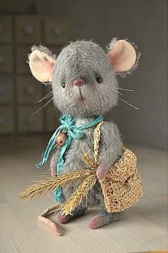"Teddy Bear stile mohair mouse "" Lucky By Oksana Antonenko - Bear Pile"