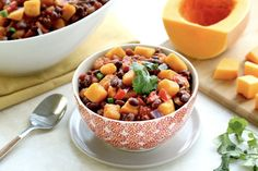 Hungry Girl's Healthy Slow-Cooker Butternut Black Bean Chili