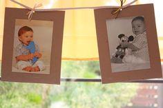 banderin personalizado con fotos del cumpleañero para decorar el salon