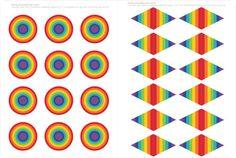 Printable Rainbow Cupcake Toppers - picklebums.com