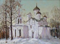 Kolomna, Moscow - oil, canvas by Svetlana Kukuova