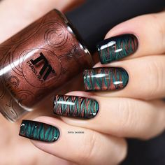 A stunningly unique brown-orange magnetic polish for stunning nail art. Collection: Silky Way Gorgeous nails by yagala, sveta_sanders, and glitterfingersss Marble Nail Designs, Marble Nail Art, Fall Nail Designs, Simple Nail Designs, Manicure, Gel Nails, Nail Polishes, Stiletto Nails, Perfect Nails