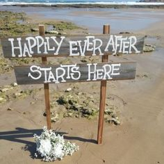 cerimoniedido beach wedding sign