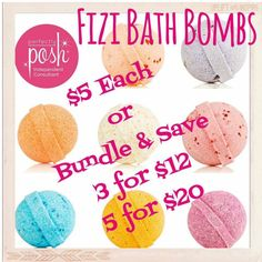 Fizi bath bombs. 5 each or 3 for 12 and 5 for 20