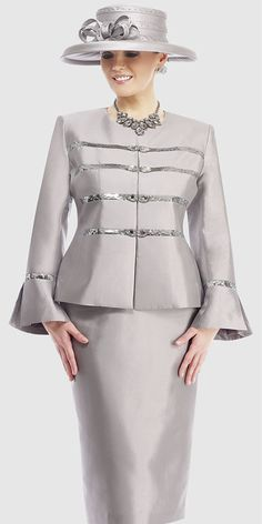 $298.90 Womens French Olive or Lipstick Silk 2pc Formal Skirt Suit ...
