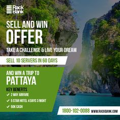 Win a Grand Tour to #Pattaya by Joining hands with #Rackbank!