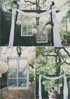 DIY Wedding Decor... Something like this would be really easy to make and super cute. Could even do it without the windows.