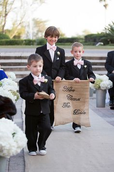 ring bearer banner | Captured Photography #wedding
