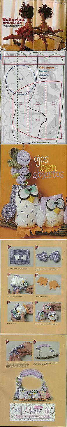 Игрушки из ткани с выкройками.
