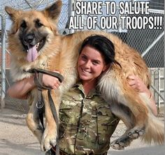 Salute to all our troops!!! #dogs #troops