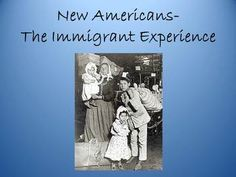 Great lesson that teaches students about the immigrant experience through Ellis Island, Angel Island, and life in America.