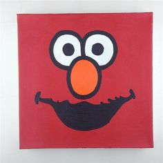 Elmo Sesame Street Original Painting On Canvas By Artist Todd Goldman