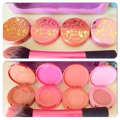 Tarte holiday collection blushes. Everyone is coming out with amazing collections for this holiday season. Not so great for my bank account, but hey.