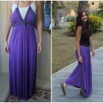 DIY Maxi Dress Refashion.. don't know if i'd do it exactly like hers but I like the refashion idea.