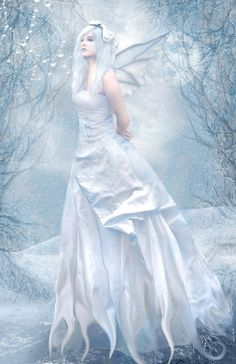 Fairy --- Pure White by *DeadLulu on deviantART Snow Fairy, Winter Fairy, Fairy Pictures, Fantasy Pictures, Mystical Pictures, Magical Creatures, Fantasy Creatures, Fairy Dust, Fairy Tales