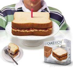 its a birthday cake... that looks like a PB?! Easy decorating!