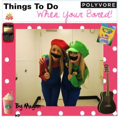 Things To Do When Your Bored! ♥ - Polyvore nice costume with bf