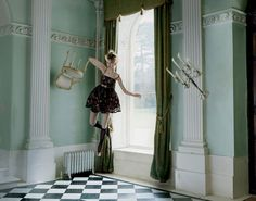 Red Valentino FW 2012 shot by Tim Walker l #levitating #fashion