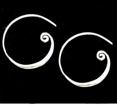 Sterling Silver Curled Hoop Earwires Ear Wires 22mm , 2 PCS,  Thickness .85mm  20ga, New Low Wholesale Price