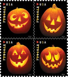 Jack-o-Lantern Stamps for Halloween 2016