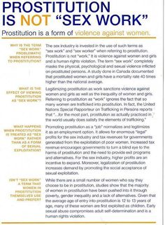 Prostitution is a form of violence against women.