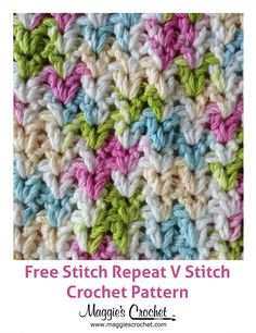 Stitch Repeat V-Stitch - Free Crochet Pattern from Maggie's Crochet