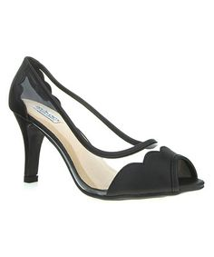 Loving this Black Molly Peep-Toe Pump on #zulily! #zulilyfinds