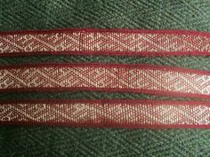 The Dublin find. 2nd half of the 10th century. Tablet woven by Elisabeth Da'Born Art and Textiles