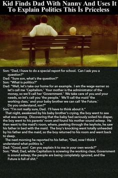 Kid Finds Dad With Nanny And He Uses It To Explain Politics This Is Priceless funny jokes story lol funny quote funny quotes funny sayings joke humor stories