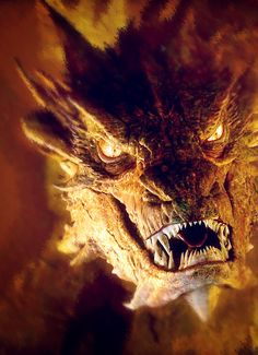 Smaug The Hobbit Smaug Dragon, Fire Dragon, Tolkien, Legolas And Tauriel, Les Reptiles, O Hobbit, Dragon Artwork, Legends And Myths, Knight Art