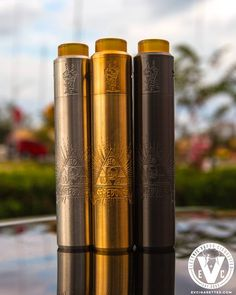 """The Barebones Mech Mod Features: ️Deep Barebones Engravings ️Accepts A Single 18650 or 20700 Battery ️Includes 18650 Battery Contact & Sleeve ️Adjustable Battery Contact ️Hybrid 510 Connection ️Solid Copper Firing Switch ️Silver-Plated Spring ️26mm Diameter The Unholy V2 RDA Features: ️Two Post Build Deck ️Ball-Bearing Clamp Mechanism ️Top Tensioned Allen Grub Screws ️PEEK Insulation ️Fully Adjustable AFC ️Dual """"X"""" Shaped Slots ️Copper Positive Pin ️26mm Diameter"""