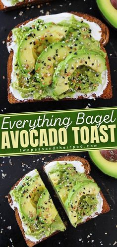 Mix up your avocado toast routine by making Everything Bagel Avocado Toast. This easy and simple breakfast recipe starts with toast topped with cream cheese, avocado, and Everything Bagel Seasoning. It's so easy to make and is great for breakfast, lunch, dinner, or snack time!