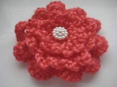 Crocheting: Triple Layer Crochet Brooches