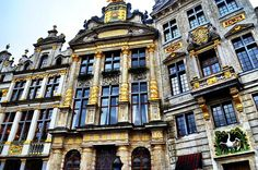 Gold shows the wealth of the Grand Place in Brussels
