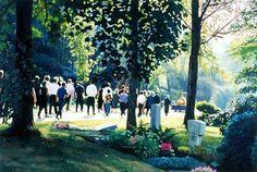 Frank Bauer,,, Beerdigung,, oil/canvas, 2003.