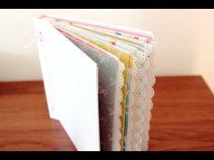 Mini álbum de sobres con cubierta de cartón (I): Estructura - YouTube