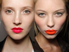 Not wanting to wear a lot of makeup? Just wear a bright lip color to waken your look up!