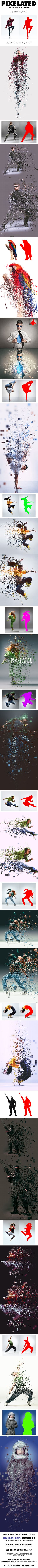 Pixelated Photoshop Action - Photo Effects Actions