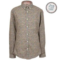 AW14 Ls Green Camrose Floral Print Shirt by Pretty Green