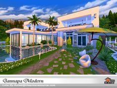 Gannapa Modern house by autaki at TSR via Sims 4 Updates