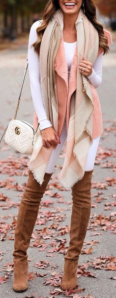 #Winter #Outfits / OTK Boots + Knit Layering