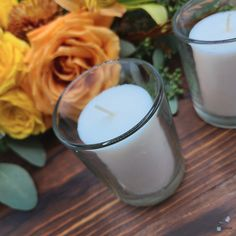 These white votive candles are perfect for any occasion. Enjoy a romantic dinner or light up a walkway with these white-colored candles. The candles are paired with glass holders and are ready to be used for parties or as home decor. They are perfect for weddings, restaurants, holiday & birthday parties, Christmas, and gifts.