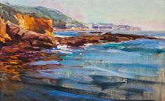Late afternoon and another view of the keyhole south of Laguna. But viewed from a lower angle so you can't see the landmark. My favorite painting to come out of the trip.