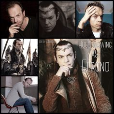 Hugo Weaving as Elrond by Heather Sondreal