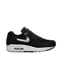 Nike Air Max 1 Leather Black White Dark Grey 654466-001 - Purchaze ... c10c15fe2